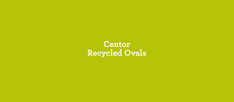 Centor Recycled Ovals