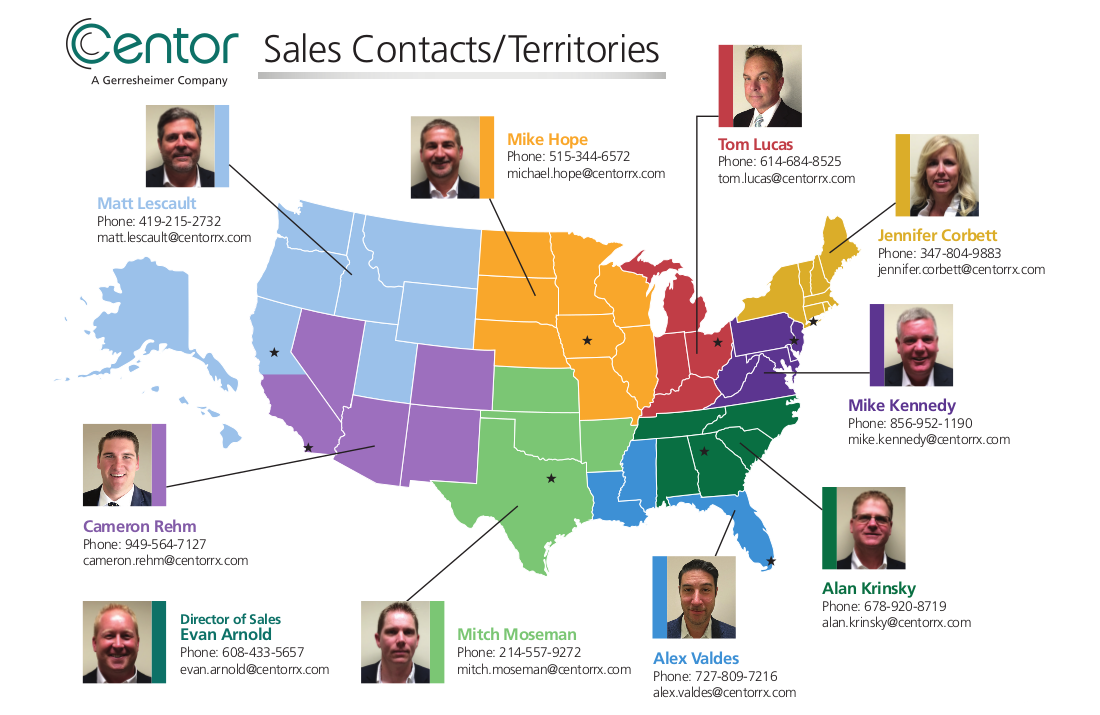 Centor Sales/Contacts